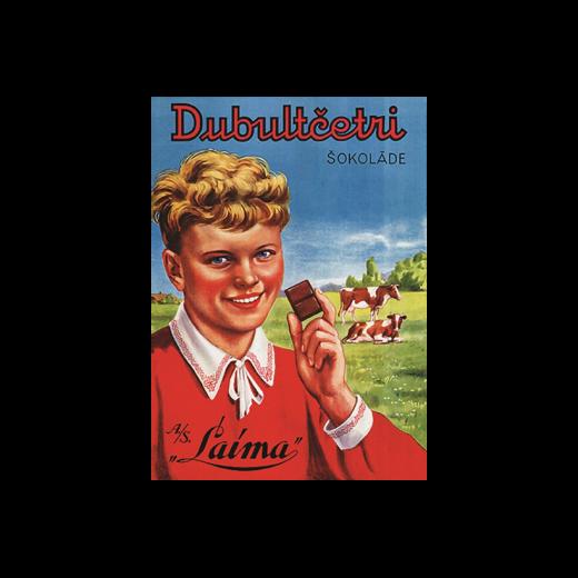 """Vēsturiskais plakāts """"Dubultčetri"""""""